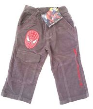 Marvel The Amazing Spider-Man Boy's Toddler Corduroy Grey Pants Size 2(92) NWT