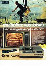 PUBLICITE ADVERTISING 027  1980  magnétoscope Hitachi VHS system