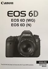 Canon EOS 6D Manual - Printed & Professionally Bound Size A5 - NEW 406 Pages