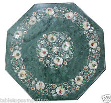 2'x2' Marble Corner Table Top Mother of Pearl Stone Mosaic Living Room Decorate