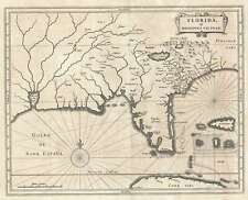 1630 De Laet Map of Flordia and the American Southeast