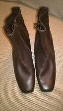 Brown Leather ankle boots, size 7 BNWT RRP £45