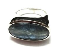 Kyanite Natural Handmade Gemstone  925 Sterling Silver Ring Size 8