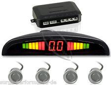 Sensori Di Parcheggio PDC Retromarcia 4sensoren Argento Universale Display
