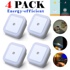 4 PACK Plug-in Auto Sensor Control LED Night Light Lamp for Bedroom Hallway Bath