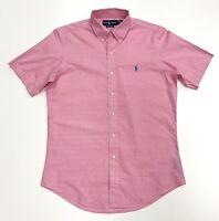 Ralph Lauren Men's Custom Fit Plaid Check Shirt In Size 15.5/39 In Pink
