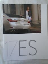 Lexus ES brochure 2017 USA market