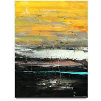 Gemälde Malerei handgemalt Kunst Unikat Horizont Strand