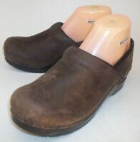 Sanita Womens Shoes Danish Clogs EU 39 US 8.5/9 Brown Leather Work Professional
