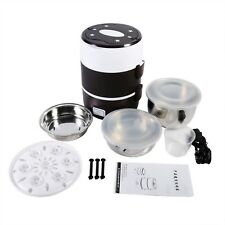 Mini Rice Cooker Steamer Portable Lunch Box Kitchen Stainless Steel Dish 3 Layer