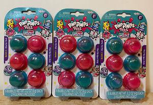 3 Packs Series 2 Starter Pack Pop Pops Pets ~ 6 Bubbles Per Pack ~ Ages 5+