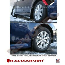 Rally Armor Mud Flaps For 2010-2014 Subaru Legacy Sedan Black w/ Gray Logo