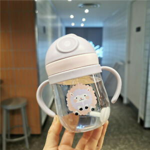 300ML Baby Feeding Water Bottle Toddler Drinking Kids Handle Sippy Feeding Cup