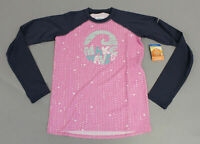 Colombia Girl's Long Sleeve Sandy Shores Graphic Rashguard TM8 Pink Size XL NWT