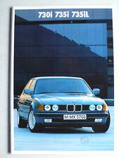 Prospekt BMW 7er E 32 - 730i, 735i, 735iL, 2.1986, 48 Seiten