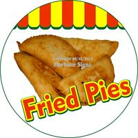 Fried Pies Decal (Choose Your Size) Concession Food Truck Circle Sticker