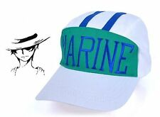 USA Japanese One Piece Marine Kappe Manga Cosplay Canvas Cap Navy Luffy Hat