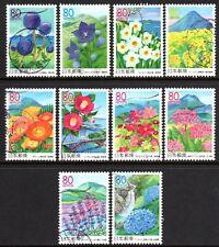 Japan 2006 80y Flowers and Scenery of Kyushu Series 2 set of 10 Fine Used