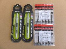 Tombow AirPress Ballpoint Pen 0.7mm Skelton 2pcs. & Refill Black ink 10pcs. Set