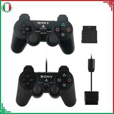 DoalShock 2 Gamepad Controller Joystick Wireless Nero PS2 Per Sony PlayStation 2
