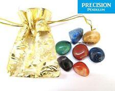 7x Chakra Healing Tumbled Stone Set with Pouch Tumble Gemstone CRYSTAL Reiki