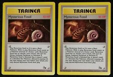 2x 1999 FOSSIL Mysterious Fossil TRAINER 62/62 Vintage Pokemon Nm/Mt *MUST SEE