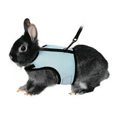 Adjustable Soft Harness with Elastic Leash for Rabbits/Bunny Small Pet Mesh Lead