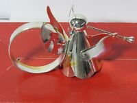 Vintage Silverplate Angel Napkin Rings Christmas  Hong Kong - 2 Sets of 4 - IOB