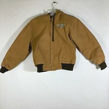 Cowgirl Hardware Embroidered Jacket Womens Jeweled Brown Built Tough Hood Sz S
