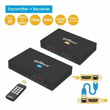 gofanco HDMI IP Extender Over TCP/IP Many to Many 1080p – 394ft (120m) (HDExtIP)