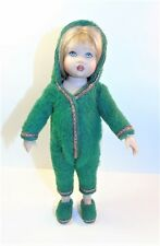 "Hooded jumpsuit w/ slippers made for Helen Kish'S Riley 8"" Dolls by Beth D Hogan"
