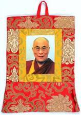 Buddhistischer Wandbehang Dalai Lama aus Brokat - Handarbeit aus Nepal