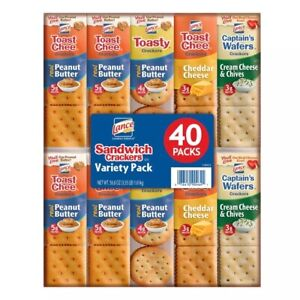 LANCE SANDWICH CRACKERS VARIETY PACK 40 CT (2 PACK) ALL YOUR FAVORITES