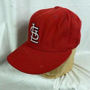 Vintage 60s 70s New Era St. Louis Cardinals Fixed Baseball Hat Cap 7 1/4