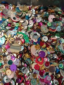 Sequins & Spangles 1 pound-Assorted Shapes & Colors for sewing and crafts!