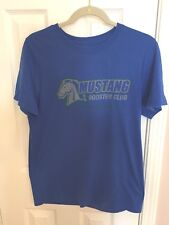 MUSTANG BOOSTER CLUB T-SHIRT ROYAL BLUE WITH MUSTANG ON FRONT SIZE M