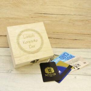 Engraved Personalised Keepsake Box with Circle, Wooden Memory Box Trinket Box