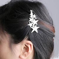Gold Silver Star Hair Clip Barrette Hairpin Bobby Pin For Women Girls Gift