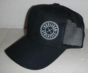 NEW Hooligan Athletics Logo Black Snapback Mesh Trucker Baseball Hat Cap