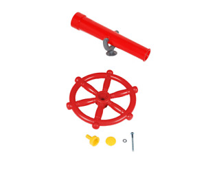 Spielturmzubehör Steuerrad + Teleskop Fernrohr im Set billiger Spielhaus Pirat
