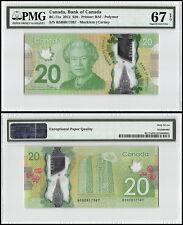 Canada $20 Dollars, 2012, P-BC-71a, UNC, Queen Elizabeth II, Polymer, PMG 67 EPQ