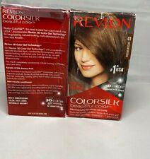 8 COLORSILK Color Hair Dye 3D Color #41 Medium Brown Ammonia Free Damage Box NEW