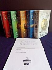 Game of Thrones Hardcover Collection Set 1-5 George R. R. Martin - All Signed