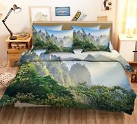 3D Natural Mountain 6 Bed Pillowcases Quilt Duvet Cover Set Single Queen King CA