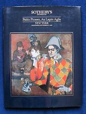 PABLO PICASSO - AU LAPIN AGILE Hardbound Auction Catalogue - 1st Edition in DJ