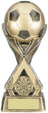 "6 1/2"" 'Aztec Gold' 3D Football Trophy (RRP £9.99) engraved and postage free"