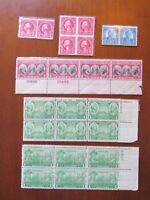 MNH US Numbered Plate Blocks STAMPS Scott #s  557, 586, 606, 703, 785, 790