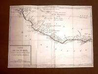 Guinea R. Mandinga Acquaforte del 1779 Mappa Louis Brion de la Tour Moutard