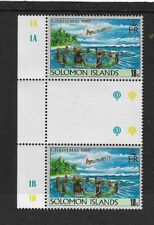 1989 SOLOMON ISLANDS - CHRISTMAS ISSUE - GUTTER PAIR WITH INSCRIPTIONS - MNH.