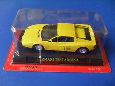 voiture miniature métal collection 1/43, ixo altaya, ferrari testarossa jaune